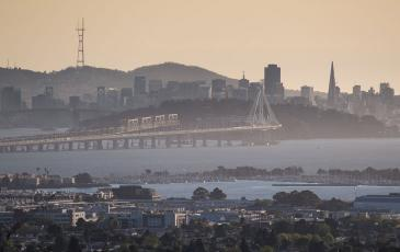 View of the San Francisco Bay - Oakland Bridge