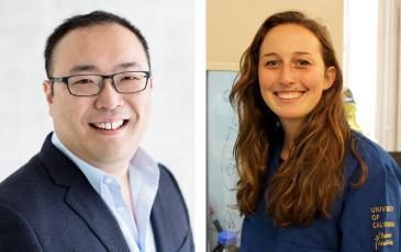 Headshots of associate professor Daniel Nomura, graduate student Jessica Spradlin.