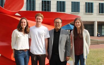 Pictured left to right: Jessica Spradlin, Carl Ward, Dan Nomura, and Elizabeth Grossman
